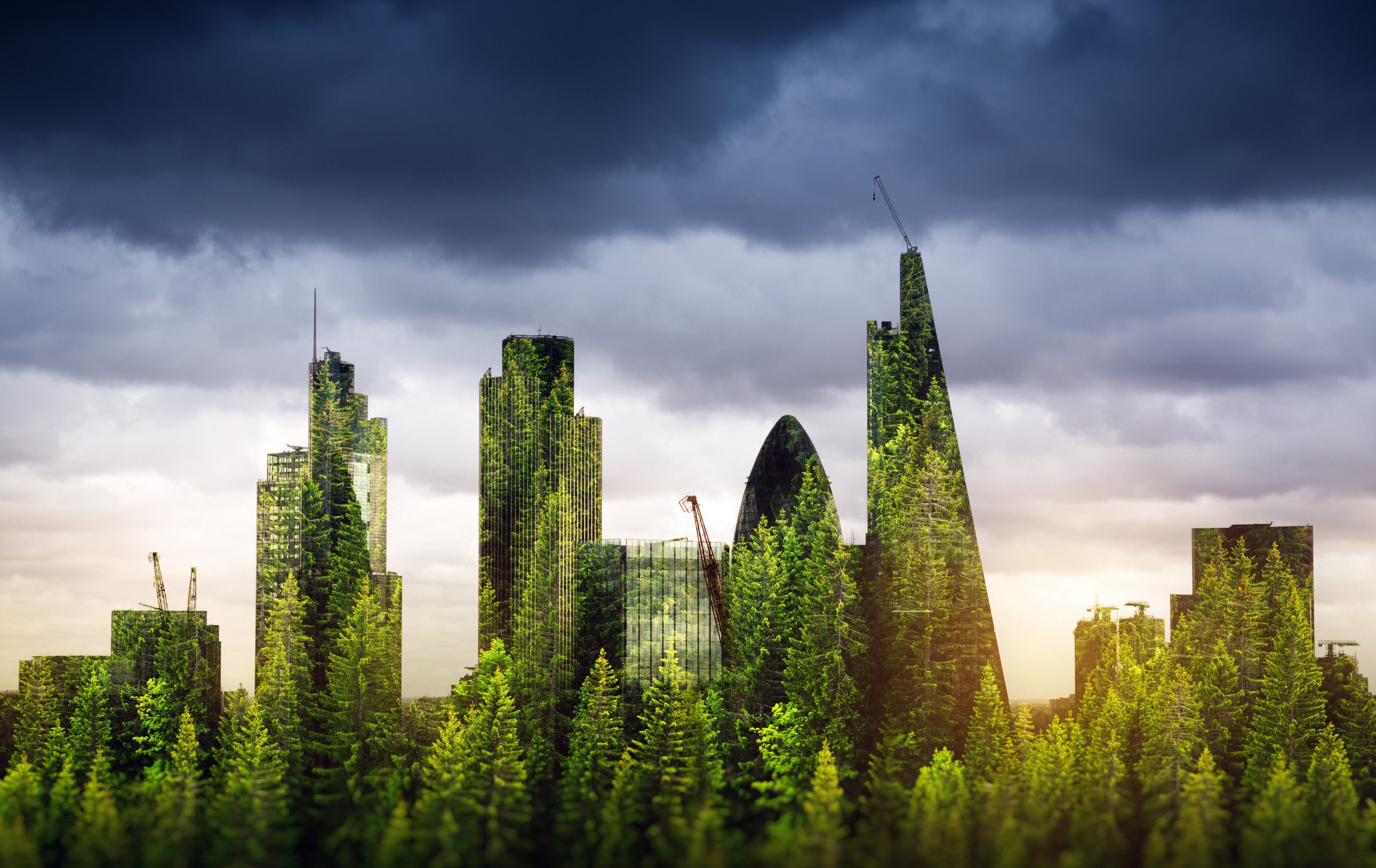 City of London composed of greenery