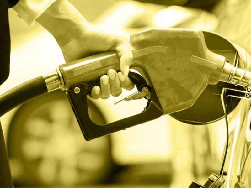 Person holding fuel pump