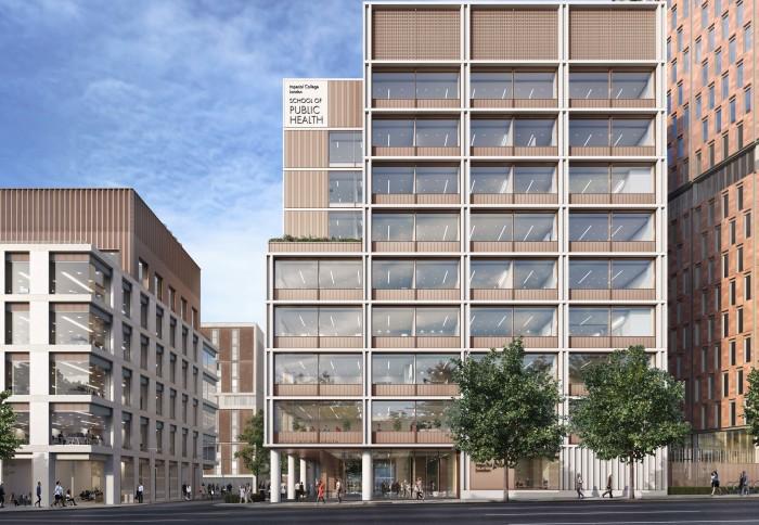 CGI of the new School of Public Health building